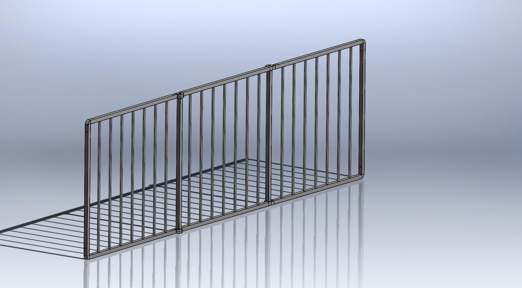 faltzaun aus aluminium als mobiler zaun f r wohnwagen wohnmobil welpenzaun sm rt 99. Black Bedroom Furniture Sets. Home Design Ideas