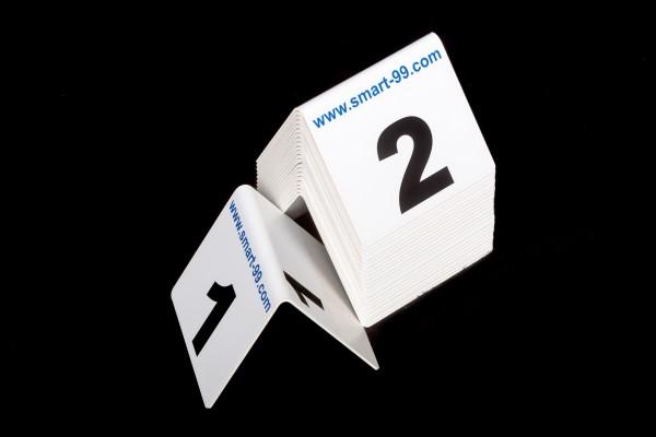 Nummern-Sets 125 x 110 mm beidseitig