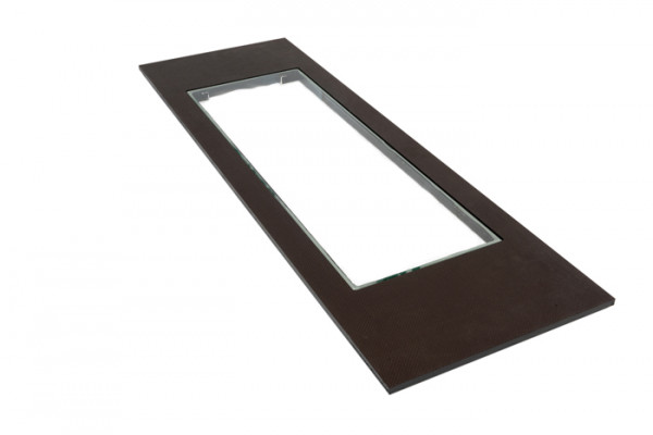 Footboard screen printing plate with glass