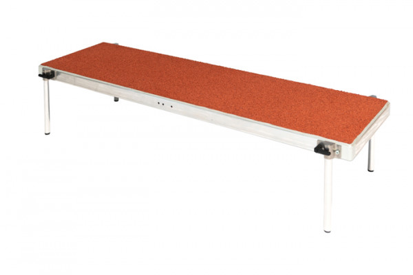 Trittplatte 125 x 36 cm 4 Sockel
